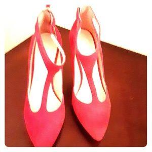 """Nine West Shoes - Nine West """"Blonsky"""" Red Suede Pumps"""